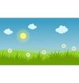 Spring landscape background with flower vector image vector image