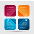 square elements for infographic vector image