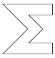 sum symbol icon black color flat style simple vector image vector image