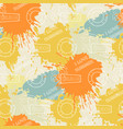 summer pattern on the background of colorful blots vector image vector image