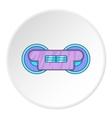 Train wheels icon cartoon style vector image