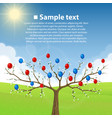 tree with balloons vector image vector image