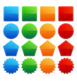 variety of colorful shapes vector image