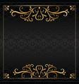 vintage dark luxury golden invitation card vector image