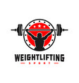 weightlifting sports logo design vector image vector image