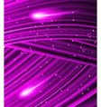 stars are falling on the background of purple rays vector image