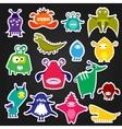 Color alien monster sticker vector image