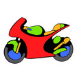 motorcycle icon icon cartoon vector image