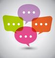 Flat Colorful Dialog Speech Bubbles vector image
