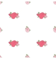 Pink rose on the white background vector image