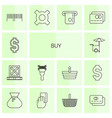 14 buy icons vector image vector image