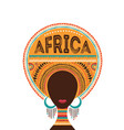 africa day with african woman vector image vector image