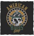 american bikers gang poster vector image vector image