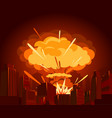 atomic bomb in city war vector image