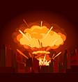 atomic bomb in city war vector image