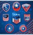 badge american vector image