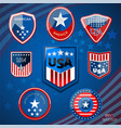 badge of american vector image vector image