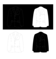 Black and white business suit vector image vector image