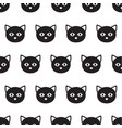 black heads of cats pattern vector image