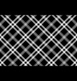 black white simple check plaid seamless pattern vector image vector image