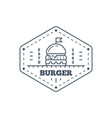 burgers badge design line art vector image