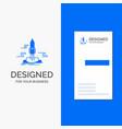 business logo for launch publish app shuttle vector image