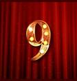 celebrating of 9 years anniversary vector image