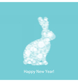 Christmas White Rabbit vector image vector image