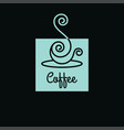coffee cup logo linear art cup coffee vector image vector image