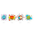 comic bright explosive banners collection vector image vector image