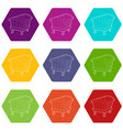 cradle icons set 9 vector image vector image