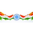 creative abstract style indian flag design vector image vector image