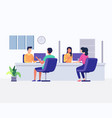 customers consulting department vector image