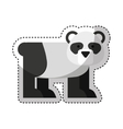 cute bear panda character icon vector image
