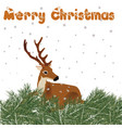 deer with christmas decor vector image