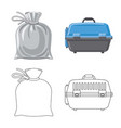 design of suitcase and baggage symbol set vector image