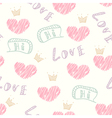 Doodle love seamless pattern vector image vector image