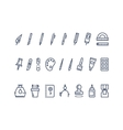 Drawing and writing tools Line icons set vector image vector image
