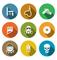 Execution Icons Set vector image vector image