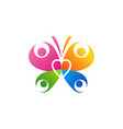family butterfly logo symbol icon design vector image
