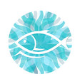fish on a background waves vector image vector image