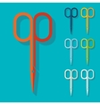 Flat design nail scissors vector image