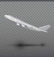 flying airplane jet aircraft airliner side view vector image vector image