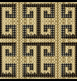 geometric gold textured 3d greek seamless vector image vector image