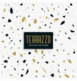gold and black terrazzo pattern background vector image