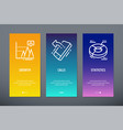 growth calls statistics vertical cards with vector image