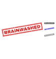 grunge brainwashed textured rectangle watermarks vector image vector image