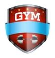 Gym Shield badge vector image vector image