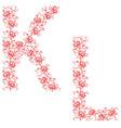 hand drawing ornamental alphabet letter kl vector image vector image