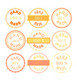 Hand Made Badge vector image